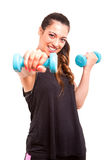 Fitness concept Royalty Free Stock Photos