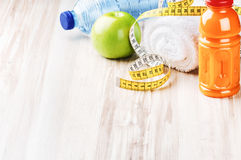 Fitness concept with healthy dieting. Plan Stock Photography