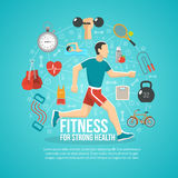 Fitness Concept Illustration Stock Photography