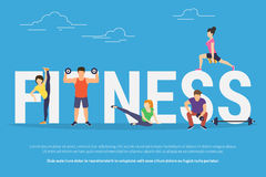 Fitness concept illustration Royalty Free Stock Image