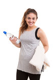 Fitness concept - Large Woman Stock Photography