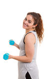 Fitness concept - Large Woman Stock Image