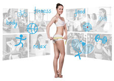 Fitness concept of perfect body Royalty Free Stock Photo