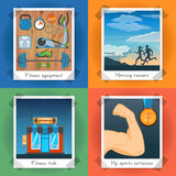 Fitness Concept Set Royalty Free Stock Photo