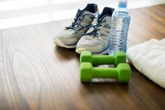 Getting ready for workout Royalty Free Stock Photos