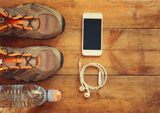 Fitness concept. top view image Royalty Free Stock Photography