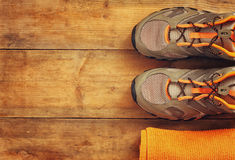 Fitness concept. top view image Royalty Free Stock Image