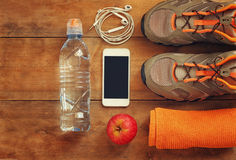 Fitness concept. top view image Royalty Free Stock Photos