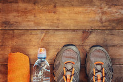 Fitness concept. top view image Stock Photos