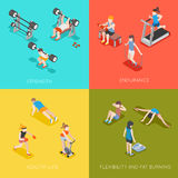 Fitness concept vector backgrounds Royalty Free Stock Image
