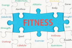 Fitness concept words Royalty Free Stock Photos