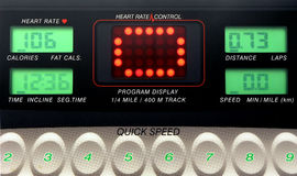 Fitness Control. Exercise machine control panel Royalty Free Stock Images