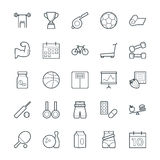 Fitness Cool Vector Icons 2 Royalty Free Stock Images