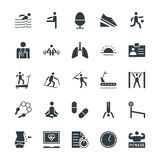 Fitness Cool Vector Icons 4 Stock Photography