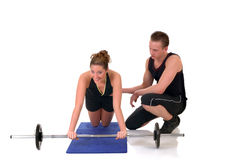 Fitness couple Royalty Free Stock Photo