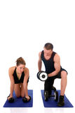 Fitness couple Stock Images