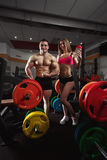 Fitness couple in the gym Stock Photography