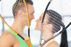 Fitness couple. Royalty Free Stock Images