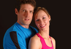 Fitness couple portrait Stock Photo