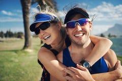 Fitness couple portrait Stock Photos