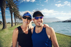 Fitness couple portrait Royalty Free Stock Photo