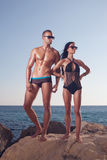 Fitness couple posing Stock Photo