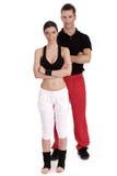 Fitness couple posing to camera Stock Image