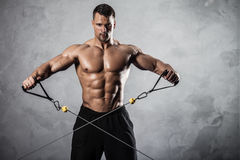 Fitness on crossover Royalty Free Stock Image