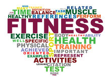Fitness. Crossword fitness , concept, typography, heart royalty free illustration