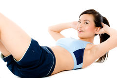 Fitness Crunch Royalty Free Stock Photography