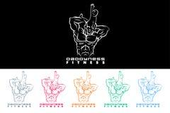 Fitness Dad Logo illustration Stock Image
