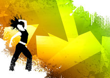 Fitness dance. Abstract color zumba fitness dance background with space Royalty Free Stock Images