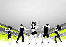 Fitness dance Stock Photography