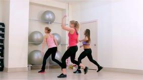 Fitness. Dance aerobics stock footage