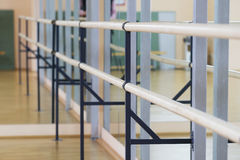 Fitness or dance hall with ballet stand Stock Images