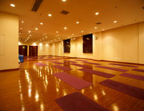 Fitness dance yoga room Stock Image