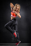 Fitness dancer Stock Image