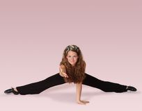 Fitness Dancer On Pink Royalty Free Stock Image