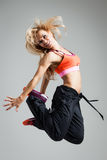 Fitness dancer Stock Images