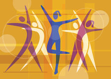 Fitness_dancing_colorful_background Stock Photo