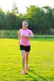 Fitness de Aziatische Chinese lopende jogging van de vrouwensport Royalty-vrije Stock Afbeelding