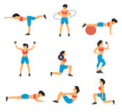 Fitness Decorative Flat Icons Set Royalty Free Stock Images
