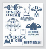 Fitness design elements Royalty Free Stock Images