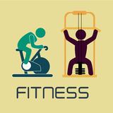 Fitness design Stock Photos