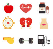 Fitness design Royalty Free Stock Images