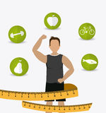Fitness design. Royalty Free Stock Images