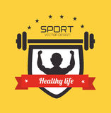 Fitness design Stock Photography