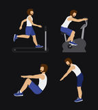 Fitness design, vector illustration. Fitness design over black background, vector illustration Royalty Free Stock Image
