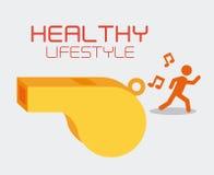 Fitness design, vector illustration. Royalty Free Stock Photos