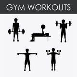 Fitness design, vector illustration. Royalty Free Stock Photography